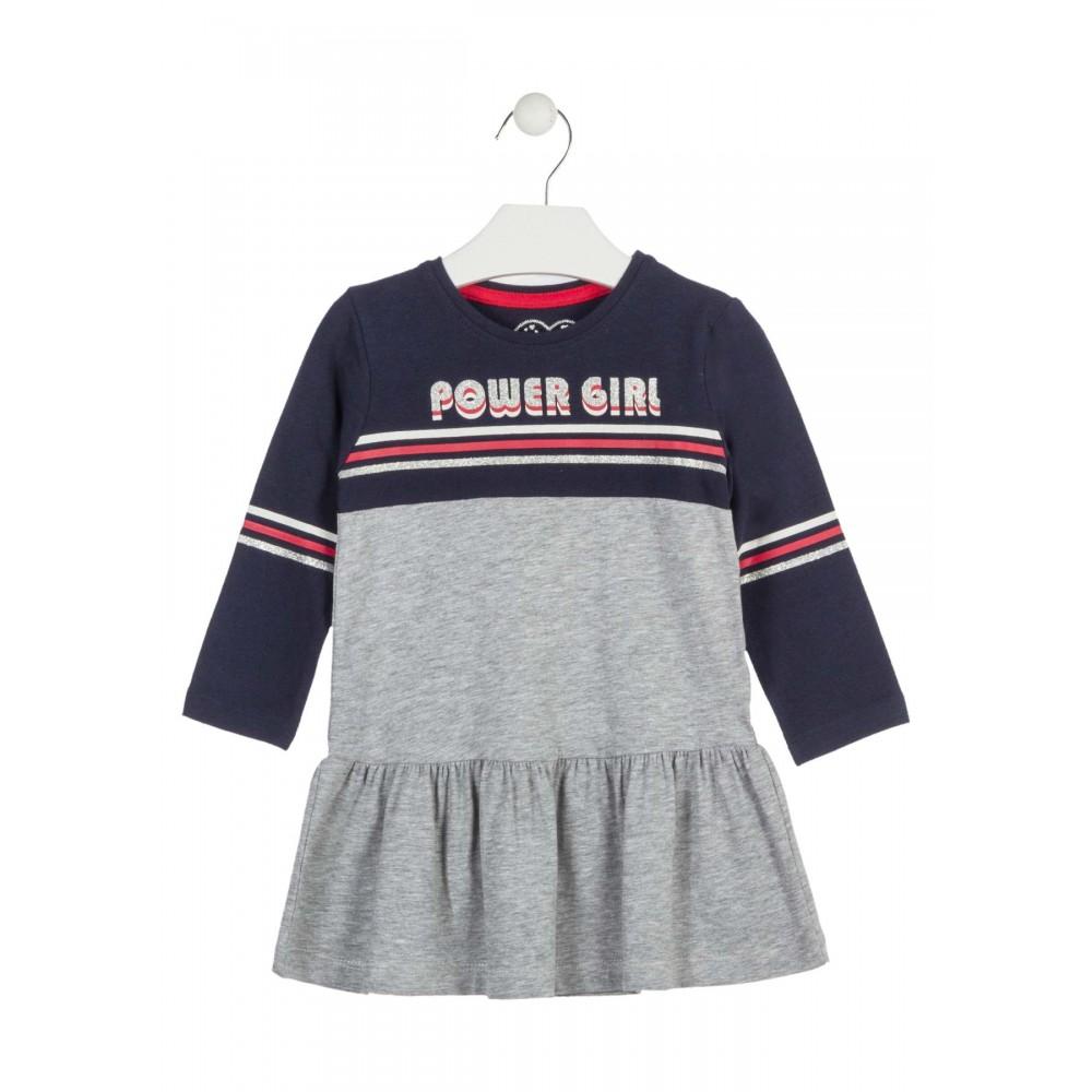 Vestido Losan Kids niña infantil Power Girl manga larga