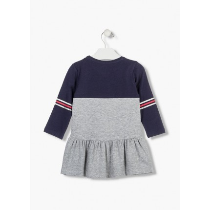 Espalda Vestido Losan Kids niña infantil Power Girl manga larga