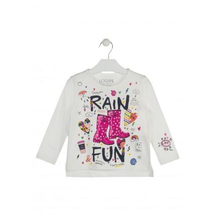 Camiseta Losan Kids niña infantil Rain Fun manga larga