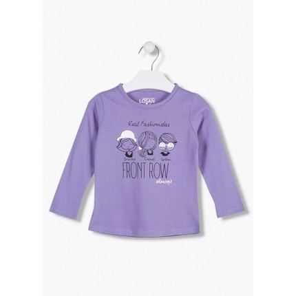Camiseta Losan kids niña infantil Real Fashionistas manga larga