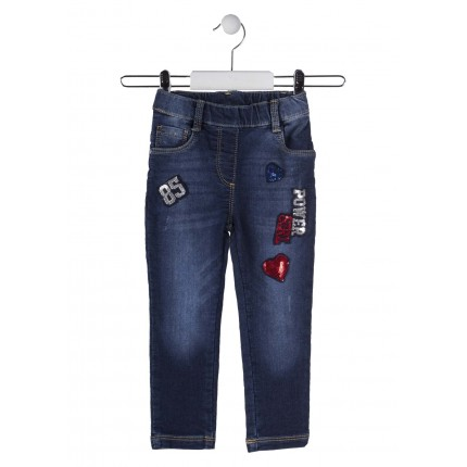 Pantalón Denim Losan Kids niña Jegging infantil Power Girl