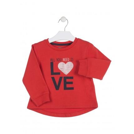 Sudadera Losan Kids niña infantil Love puño