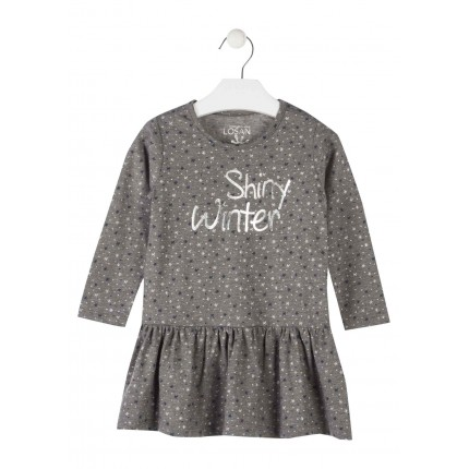 Vestido Losan Kids niña infantil Shiny Winter manga larga