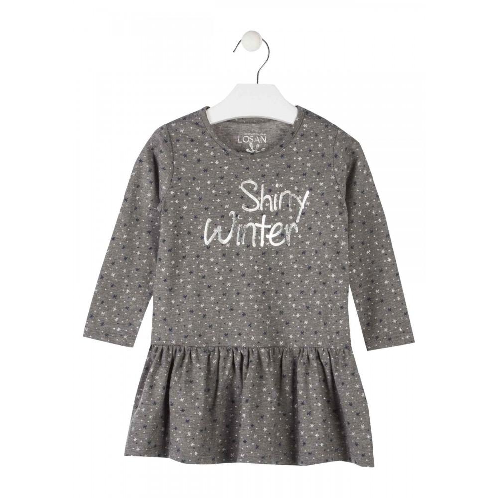 Vestido Losan Kids niña infantil Shiny Winter manga larga