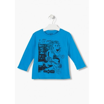 Camiseta Losan Kids niño infantil A day at the park manga larga