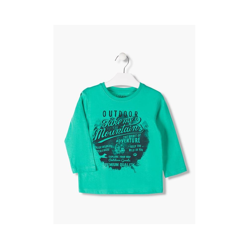 Camiseta Losan kids niño infantil Outdoor manga larga