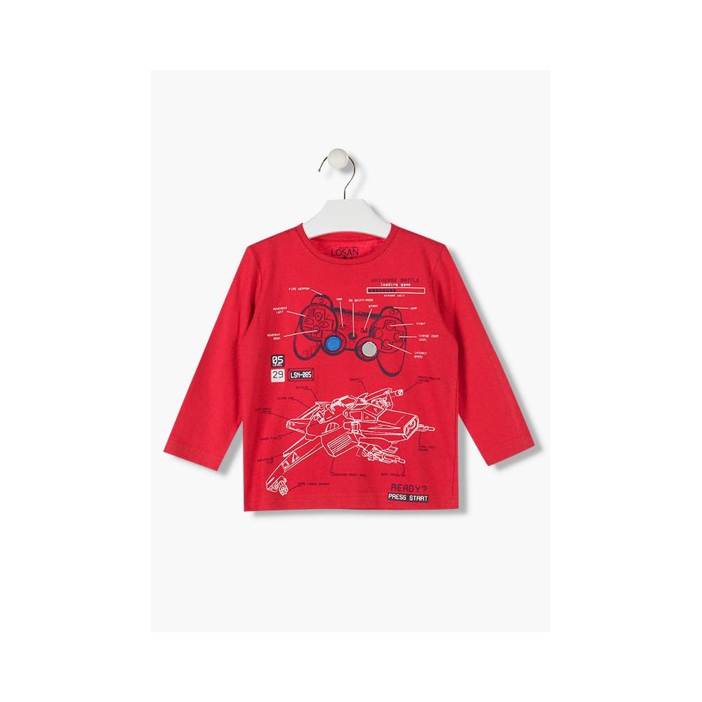 Camiseta Losan Kids niño infantil Universe Batle manga larga