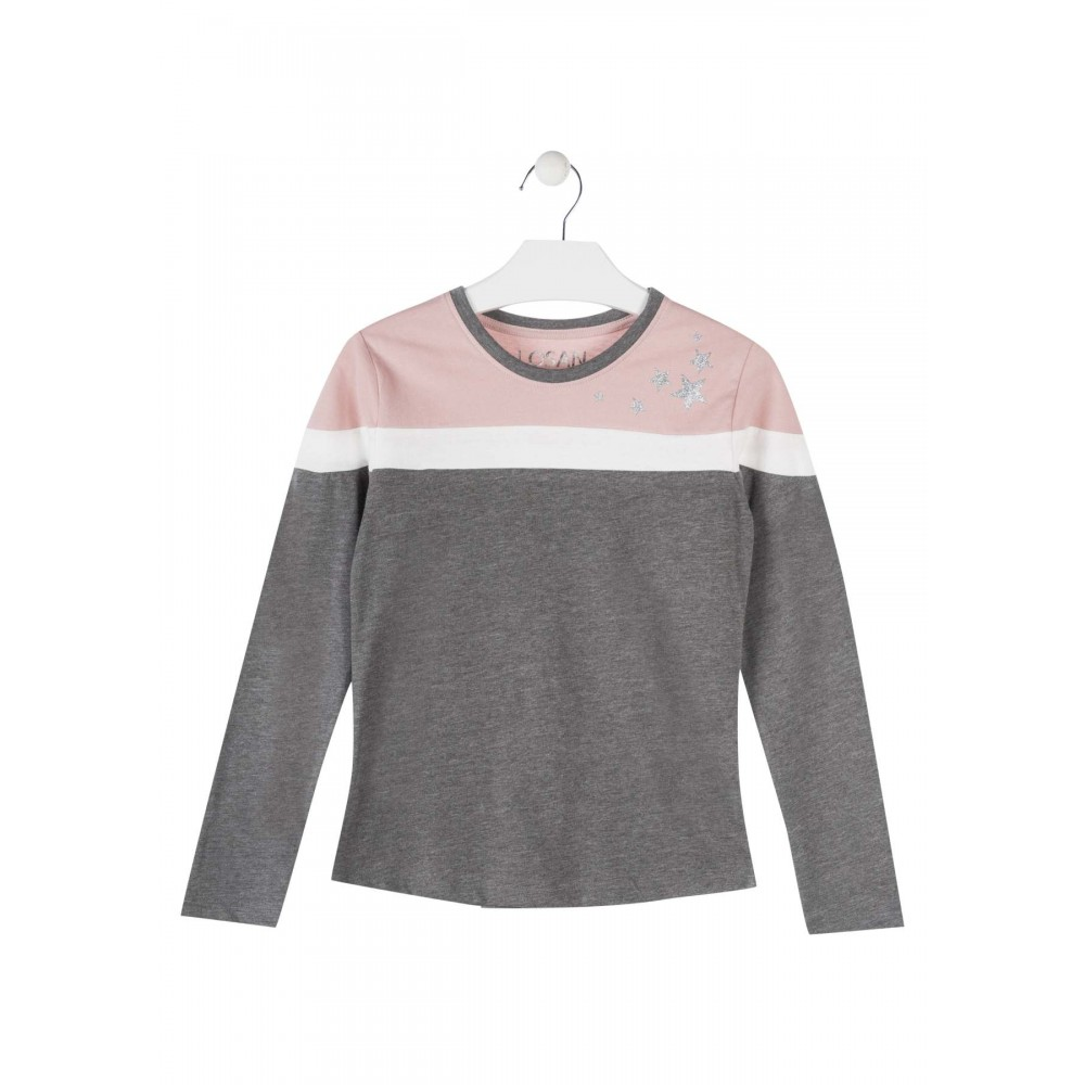 Camiseta Losan Estrellas niña junior manga larga