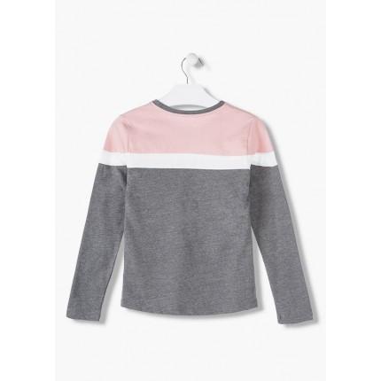 Espalda Camiseta Losan Estrellas niña junior manga larga