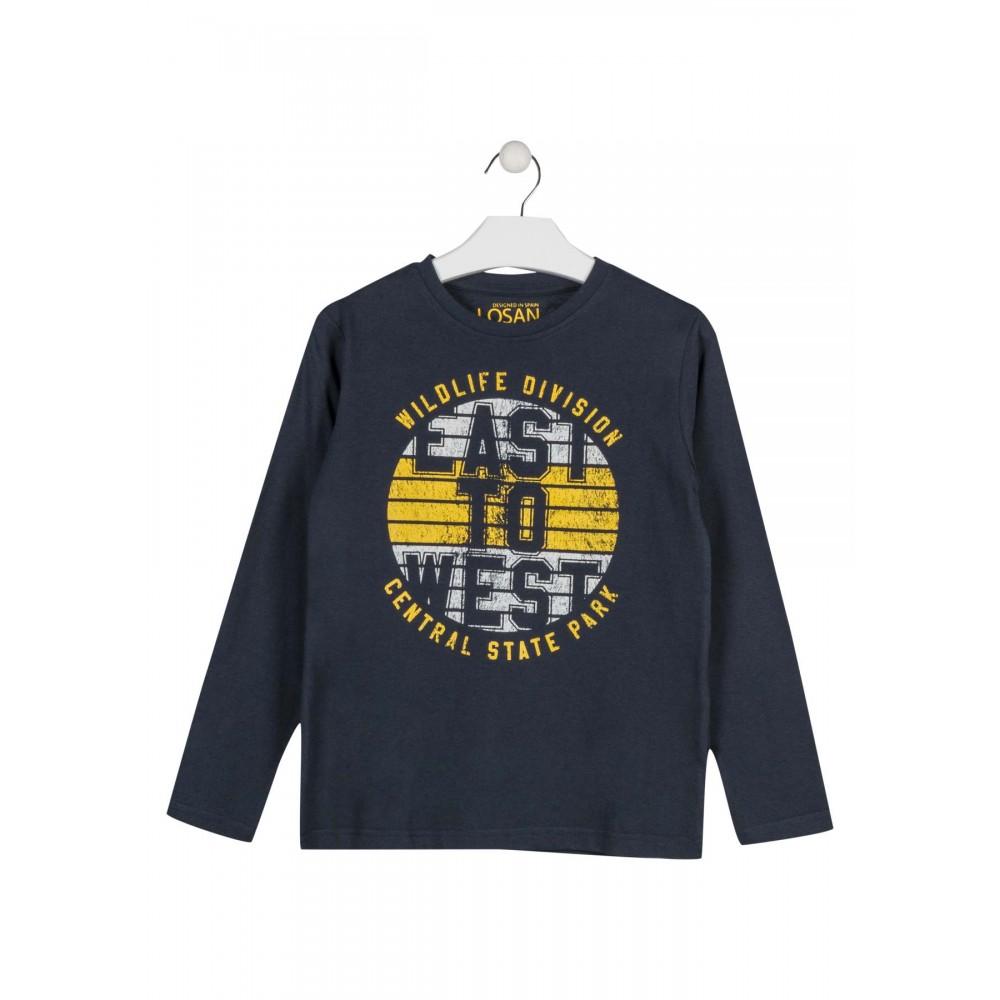 Camiseta Losan niño East to West junior manga larga