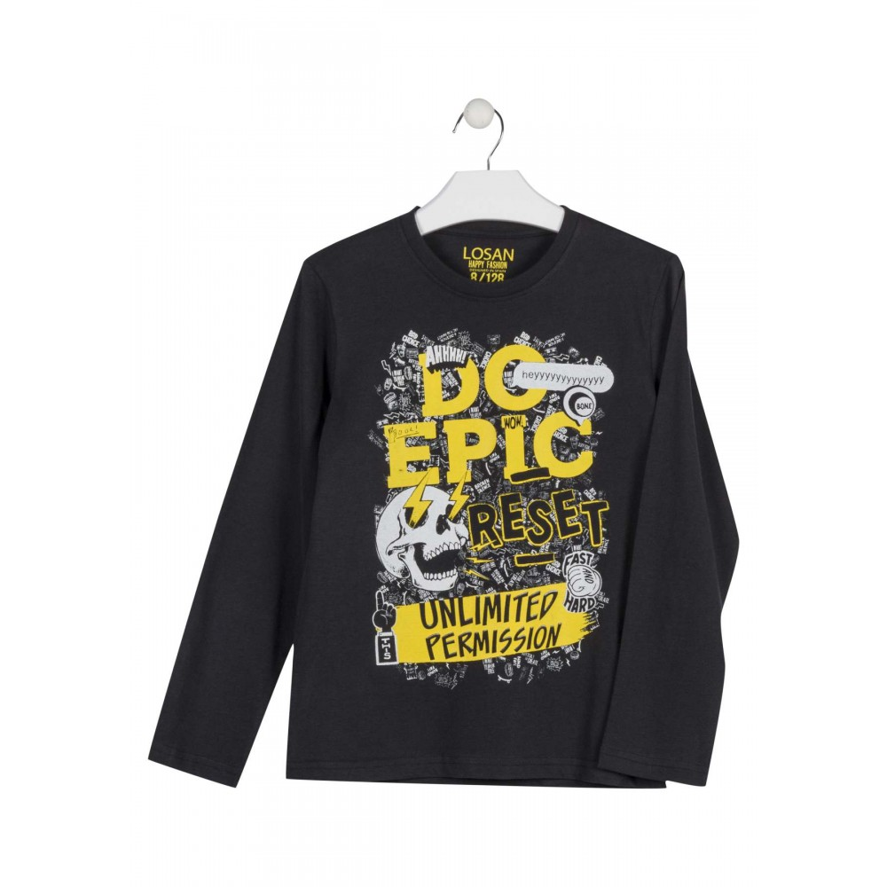Camiseta Losan niño Do Epic Wow! junior manga larga