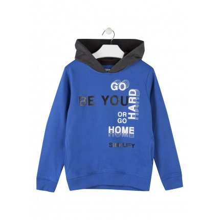 Sudadera Losan niño Be you junior capucha bolsillos