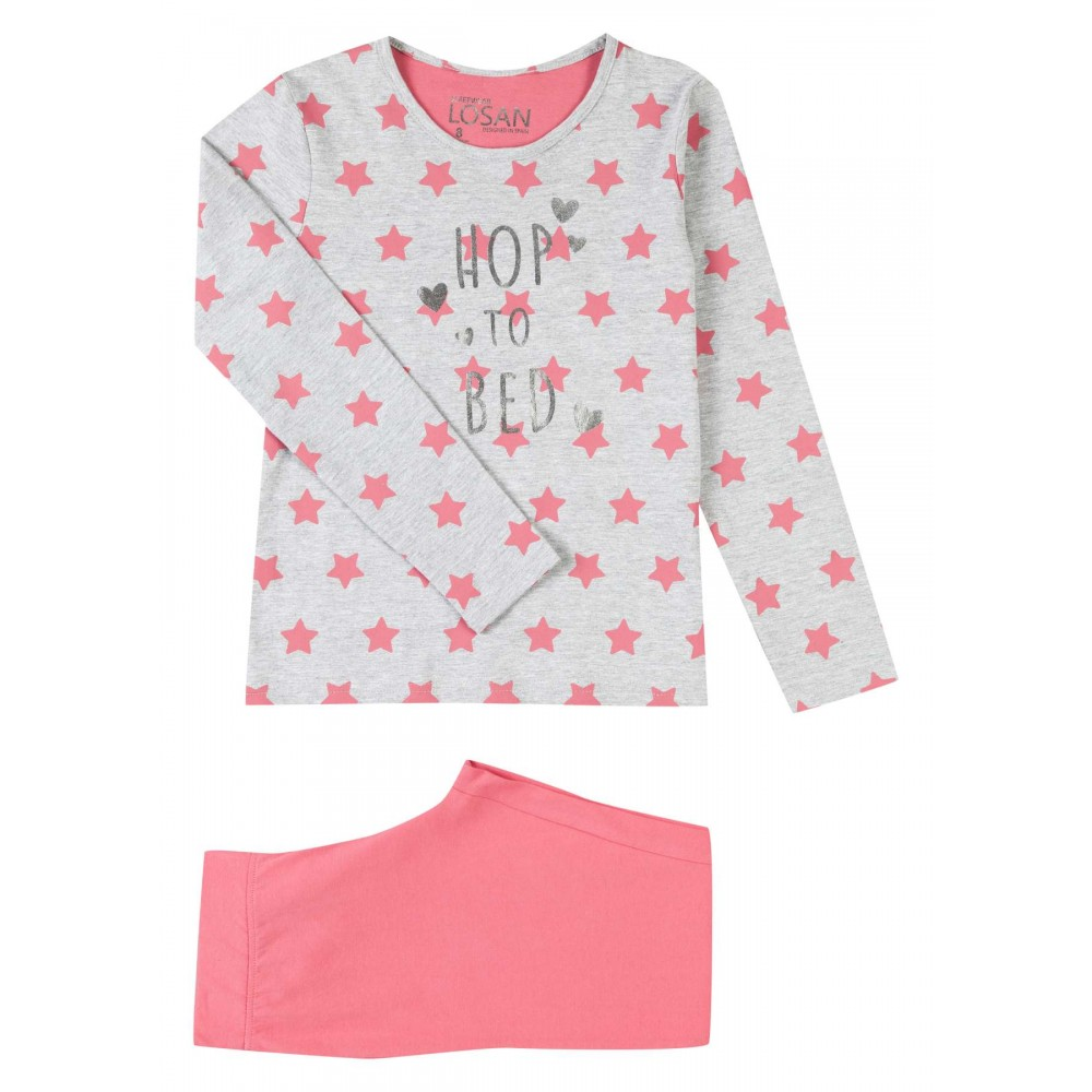 Pijama Losan niña Hop to bed junior manga larga