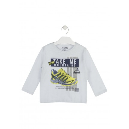 Camiseta Losan Kids niño Mountains infantil manga larga