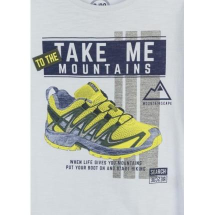 Detalle estampado Camiseta Losan Kids niño Mountains infantil manga larga
