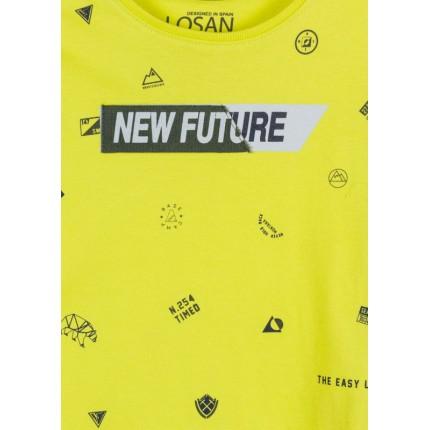 Detalle estampado Camiseta Losan Kids niño New Future infantil manga larga