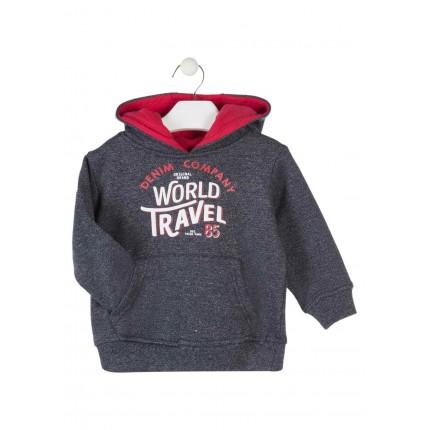 Sudadera Losan Kids niño World Travel infantil canguro capucha