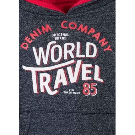 Detalle estampado Sudadera Losan Kids niño World Travel infantil canguro capucha