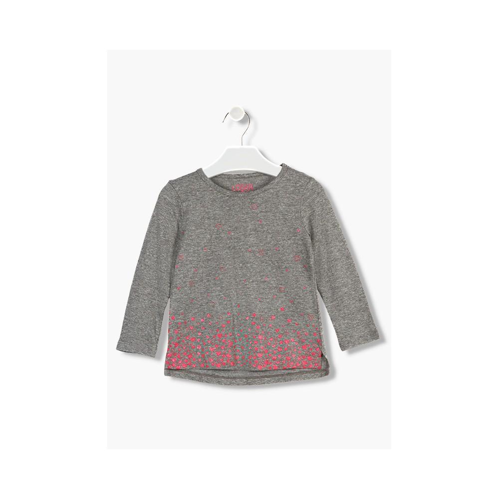 Camiseta Losan Kids niña infantil Pequeños corazones manga larga