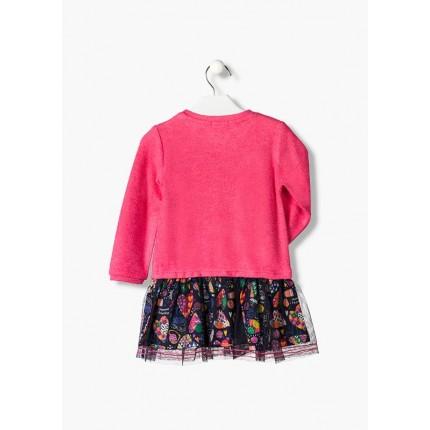 Espalda Vestido Losan Kids niña infantil Fun Tull Tricot