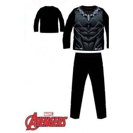 Pijama Vengadores Uniforme Black Panther niño infantil manga larga