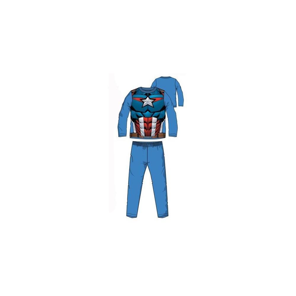 Pijama Vengadores Uniforme Capitán América niño infantil manga larga