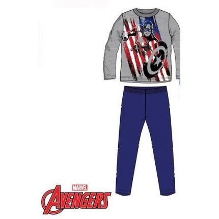 Pijama Vengadores niño infantil Marvel manga larga Capitán América