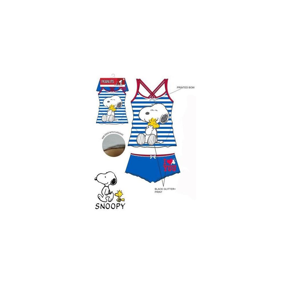 Conjunto Interior Snoopy niña junior tirantes Azul