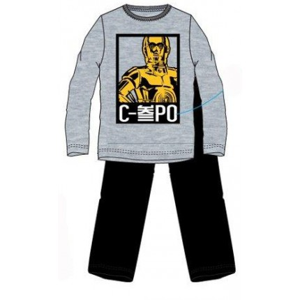 Pijama Star Wars Hombre manga larga C3PO