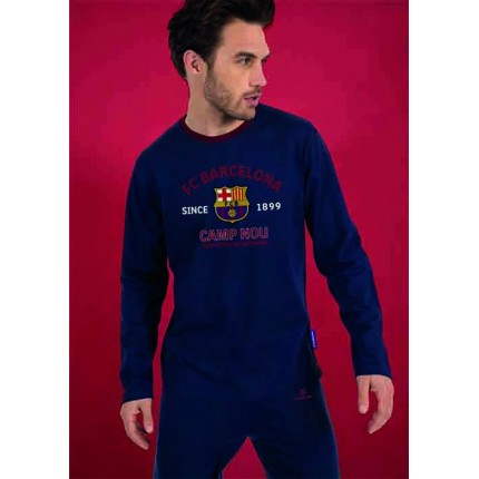 Pijama FCBarcelona adulto Camp Nou Sentiment Blaugrana manga larga