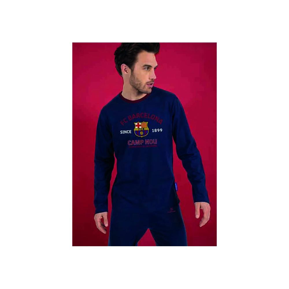Pijama FCBarcelona adulto Camp Nou Sentiment Blaugrana manga larga
