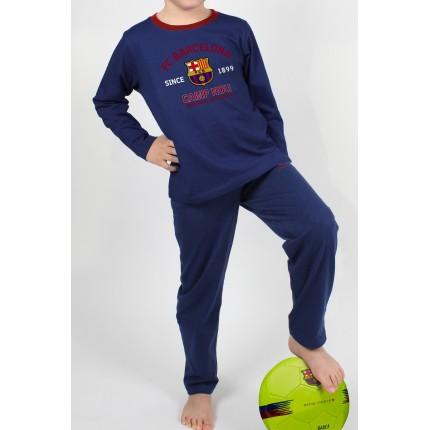 Pijama FCBarcelona niño Camp Nou Sentiment Blaugrana manga larga