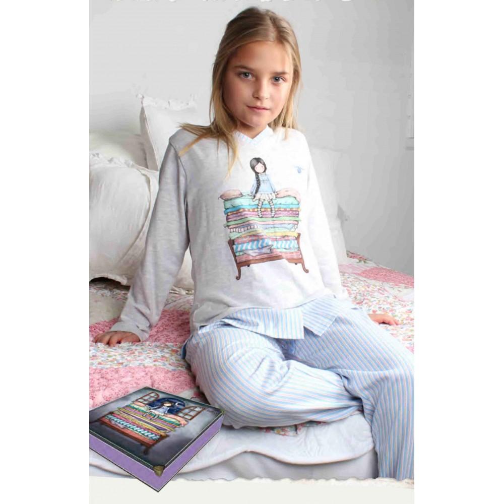 Pijama Gorjuss niña The Princess And The Pea manga larga Santoro London