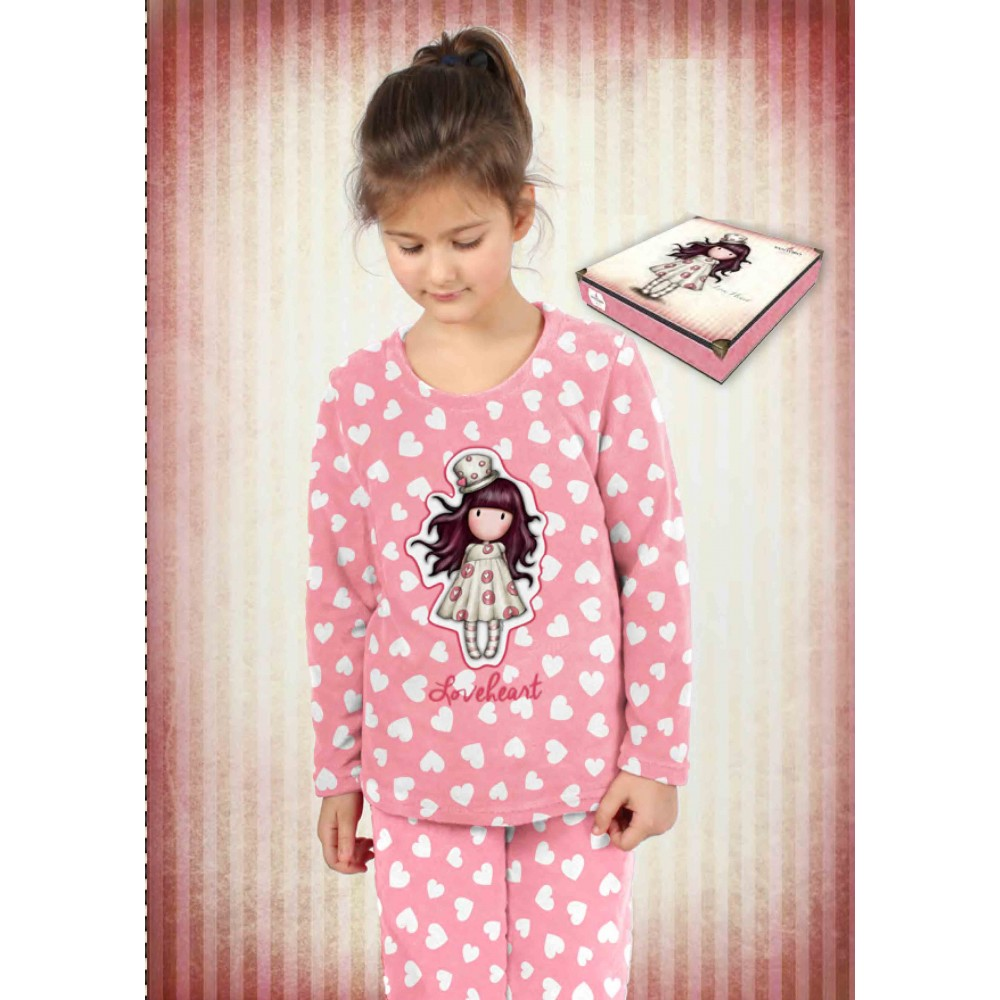 Pijama Gorjuss niña junior Loveheart coralina