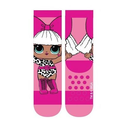 Calcetines antideslizantes LOL niña Rosa