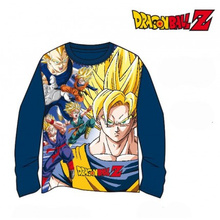 Camiseta Dragon Ball Z niño Super Saiyan Full Power Guerrero manga larga