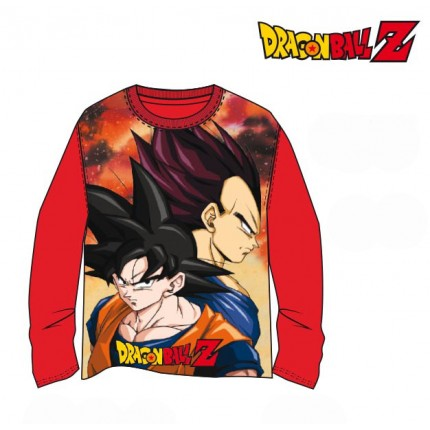 Camiseta Dragon Ball Z niño Son Goku y Vegeta manga larga