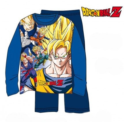 Pijama Dragon Ball Z niño Super Saiyan Full Power manga larga