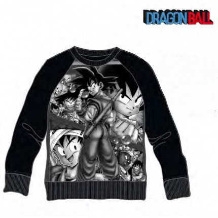 Sudadera Dragon Ball adulto Son Goku cuello redondo