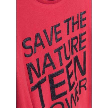 Detalle estampado Camiseta Tiffosi Kids Martha niña junior manga larga