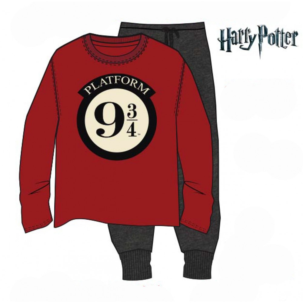 Pijama Harry Potter 9 3/4 adulto manga larga