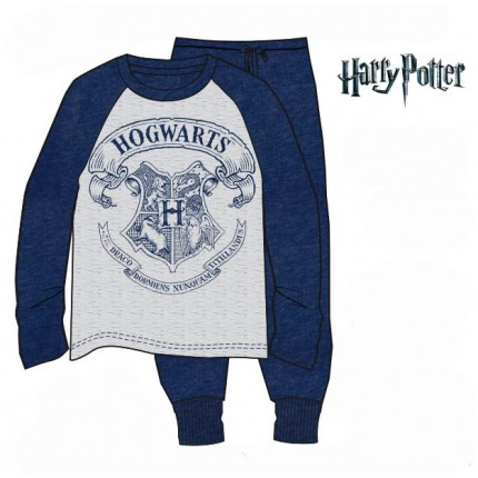 Pijama Harry Potter HOGWARTS adulto manga larga