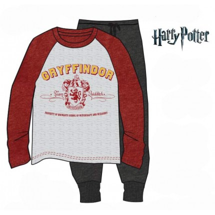 Pijama Harry Potter GRYFFINDOR adulto manga larga