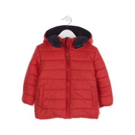 Parka Losan Kids niño infantil básica capucha Rojo