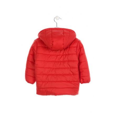 Espalda Parka Losan Kids niño infantil básica capucha Rojo