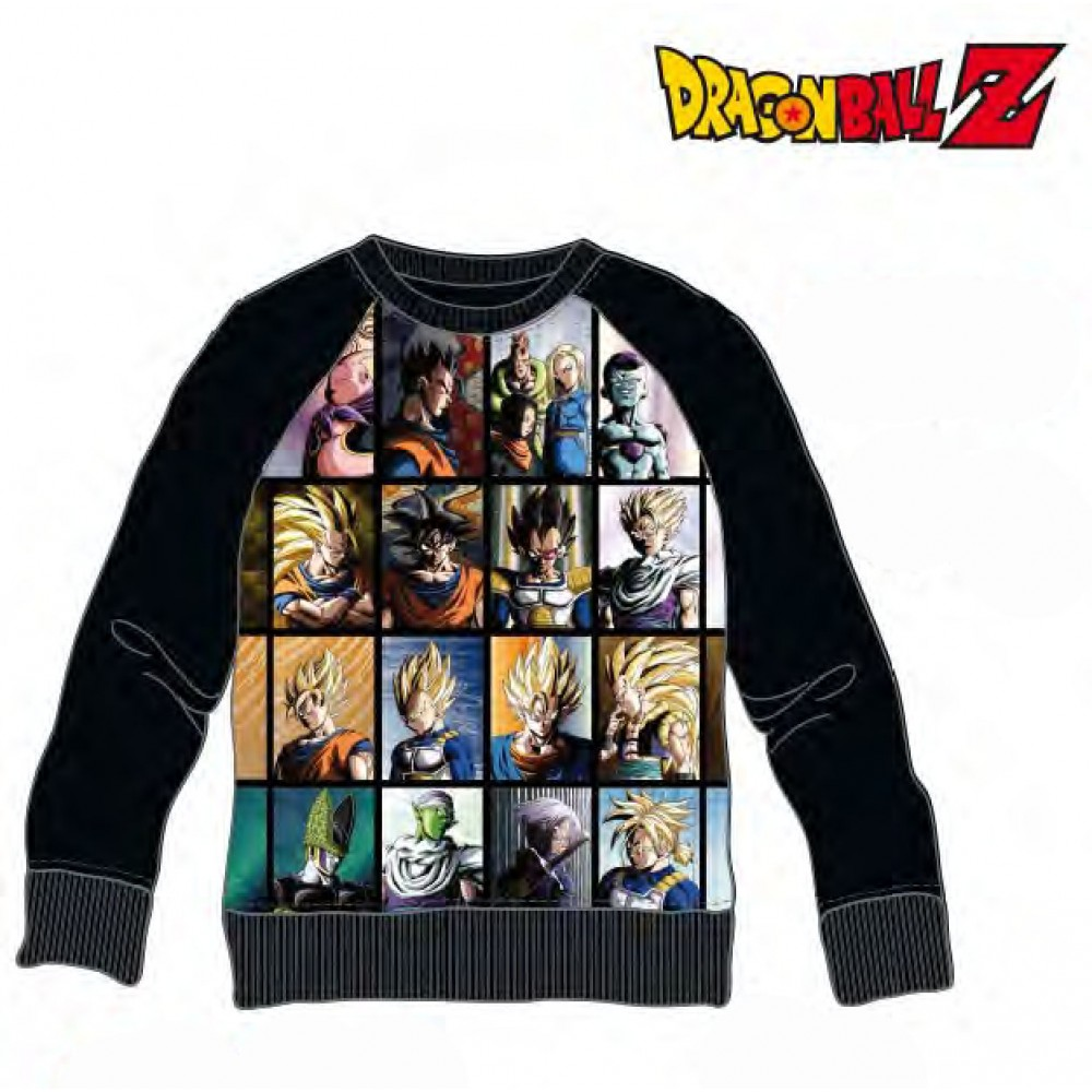 Sudadera Dragon Ball Z adulto Personajes