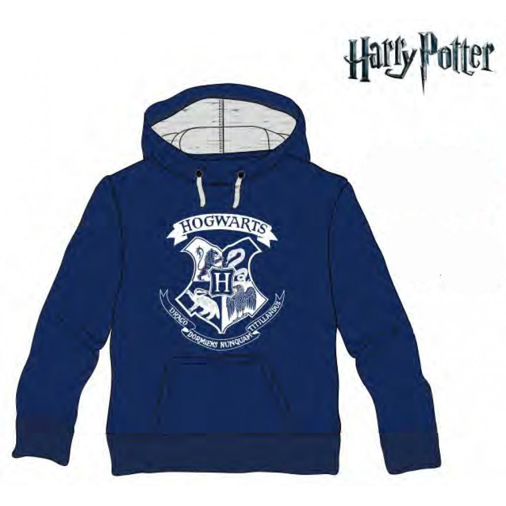 Sudadera Harry Potter adulto Howgarts capucha