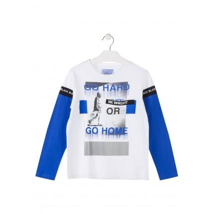 Camiseta Losan niño junior Go Hard or Go Home manga larga