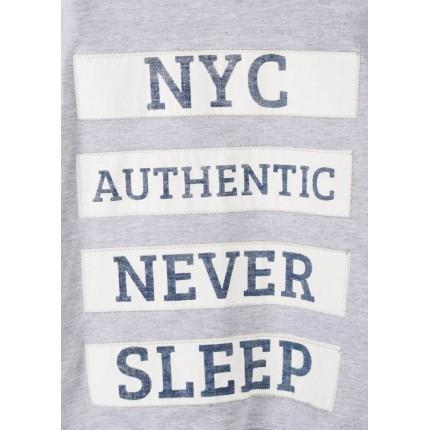Detalle estampado Sudadera Losan niño junior NYC capucha