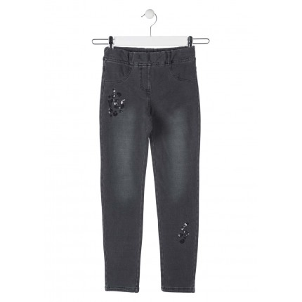 Pantalón Denim Losan niña YES junior goma